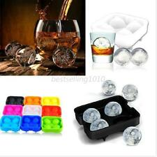Whiskey Ice Ball Cube Maker Tray Silicon Sphere Mould Party Brick Round Bar B76