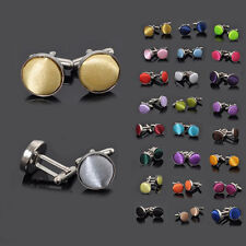 New Design Men's Multicolor Flannel Gift Smooth Round Cufflinks Alloy Cuff Links
