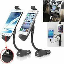 3in1 1.5A Car Cigarette Lighter USB Charger Adapter Mount Holder with USB Ports