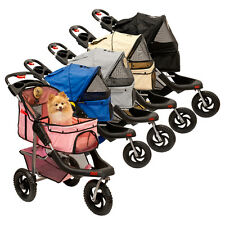 Lucky Lola One Hand Closure Folding 3 Wheel Dog Cat Pet Jogging Stroller Carrier