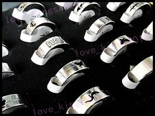 Wholesale Lots Jewelry Gothic Smooth Stainless Steel Man's Silver Tone Ring FREE
