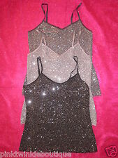 Nwt EXPRESS Sequin Bling Camisole Blouse Tank Club Top SEXY &SO HOLIDAY GORGEOUS