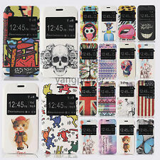 Fashion Open Windows Flip PU Leather Holde Cover Case For Samsung Galaxy S5 mini