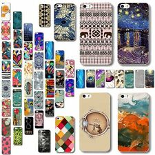 PC Phone Various Case Cover Hard Back Painted Pattern For Apple iPhone 4 4S 5 5S