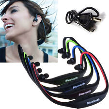 Sports Bluetooth Stereo Wireless Headset Headphones Mp3 Handfree For iPhone New