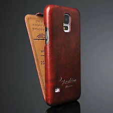 Luxury Leather Vertical Flip Fitted Case Cover Pouch For Samsung Galaxy S5 I9600
