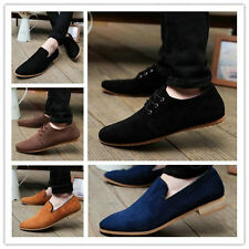 British Men's Casual Lace Slip On Loafer Shoes Moccasins Driving Shoes