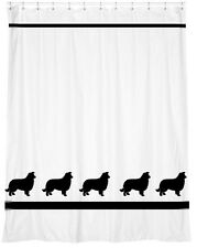 Border Collie Dog Shower Curtain *Your Choice of Colors* Our Original Design!