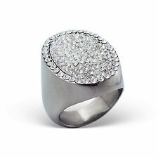 Crystal With Stainless Male Ring Fashion Men Stones Steel Jewelry 9