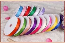 2016 HOT SALE 3MM-38MM 25/50YDS WEDDING SCRAPBOOK DOUBLE Sided SATIN RIBBON GIFT