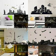 Fluorescent City Wall Decal Sticker Mural Glow In The Dark Home Room Decor