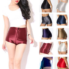 sex girl Disco High Waisted Shiny Stretch Shorts Apparel Hot Pants