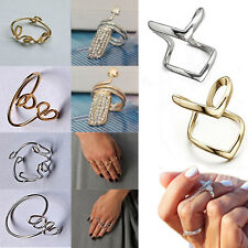 Stylish Wide Ring Womens Punk Rock Simple Above Knuckle Ring Gift New Jewelry