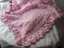 BABY BLANKET.BOY.GIRL UNISEX.BLUE.PINK.WHITE.SHOWER GIFT.POUND OF LOVE.BLANKET