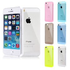 FUNDA PROTECTOR CARCASA SILICONA GEL PARA IPHONE 5-5S TRANSPARENTE CASE COVER