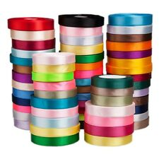Satin Ribbon 3mm 6mm 10mm 16mm 20mm 25mm 38mm Many Colours 25yards freeshipping
