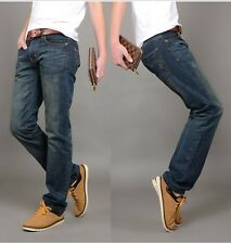 Men's Casual Classic Jeans Stylish Design Straight Slim Fit Trousers Pants