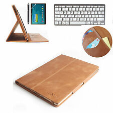 """Keyboard+Real Genuine Leather  Case Cover For Samsung Galaxy Tab S 10.5"""" SM-T800"""