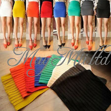 Sexy Seamless Mini Skirt Slim Stretch Tight Lady Girl Fitted Candy Color Dress