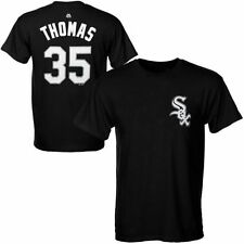 Frank Thomas #35 Chicago White Sox T-Shirt Cooperstown Jersey Style MLB Majestic