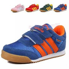 Boys Girls Kids Stripe Children Sneakers Sport Running Casual Shoes 20-36 T127