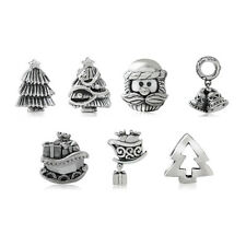 925 Sterling Silver Christmas European Charm Bead