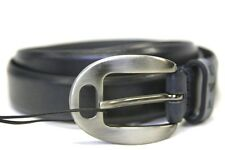 EMPORIO ARMANI Men's Navy Blue Leather Belt YEM630/YCC09 Sz 48 50 52 54 NWT