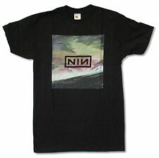 "NINE INCH NAILS ""WAVE BOX"" LOGO BLACK T SHIRT NEW OFFICIAL NIN ADULT"