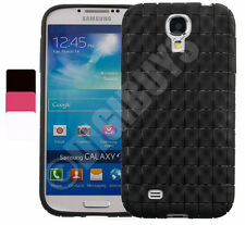 3D Wave Pattern Gel Case Cover For Samsung Galaxy S4 i9500 + Screen Protector
