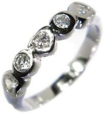 1.00CTW HEART STONE BRILLIANT - WEDDING BAND RING size 6,8,9