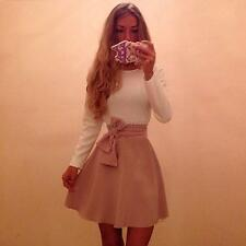 Sexy Womens Bow-knot Bandage Party Cocktail Mini Dress Long Sleeve Bodycon SML