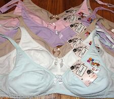 6 JUNIOR Girls Wire Free TRAINING Bras Design #1906W Lot 28A 30A 32A 34A 36A