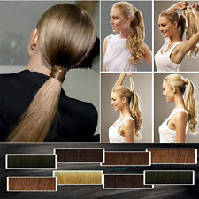 US Post Straight Curly wavy clip in ponytail hair extensions pony tail Real hair