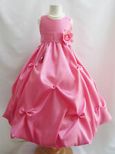 Coral/Guava toddler teen pageant  wedding graduation prom flower girl dresses