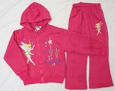 NEW Sz 1~8 WINTER TRACKSUIT TINKERBELL TOP PINK JACKET HOOD PANTS GIRLS OUTFITS