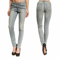 Sexy Light Blue Womens Skinny Stretch Jeans Slim Legging Jeggings Denim Pants