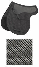 New Shires Black Full or Cob anti slip quilted numnah with waffle panel 265