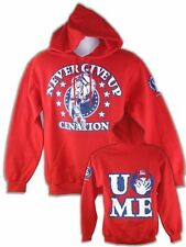 John Cena Never Give Up Red Pullover Hoody Sweatshirt New