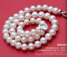 "9-10mm 16"",17"",18"",19"",20"",21"",22"" AAA+Akoya White Pearl Necklace Handmade"
