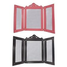 Ornate Classic Design Bright Colourful 3 Triple Panel Wing Dressing Table Mirror
