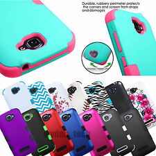 For Alcatel One Touch Fierce 2 Pop Icon Hybrid Hard Skin Shockproof Case Cover