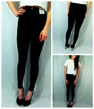 ♥TOPSHOP Noir Black Shiny Disco Pants Leggings Size 6 8 10 12 14 16 RRP £30♥