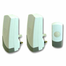 Wireless 50M Range Door Bell Push Cordless Mains Plug In Chime Kit Set Doorbell