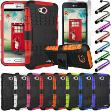 Rugged Armor Impact Hard Hybrid Case Cover + Kickstand For LG Ultimate 2 L41C
