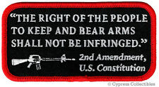 2nd AMENDMENT PATCH iron-on RIGHT TO BEAR ARMS embroidered GUN RIFLE EMBLEM AR15