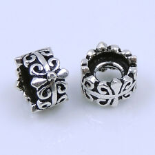 S925 Sterling Silver 4x6mm Vintage Celtic Cross Spacer Bead 2mm Hole WSP243