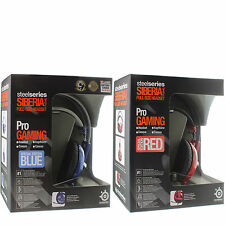 SteelSeries Siberia v2 Headphone Full-Size Over-Ear Gaming Headset Blue/Red NEW