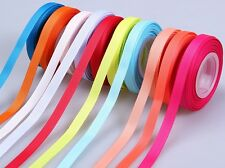 10 yards mixed colors solid grosgrain ribbon festival embellish sewing craft LXH