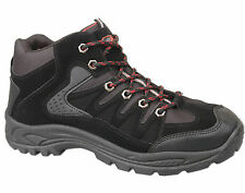 Mens Brand New Black Lace Up Hiking Walking Boots Size 6 7 8 9 10 11 12