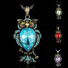 50% OFF New Large Crystal Rhinestone Owl Cute Pendant necklace Women Men Jewelry